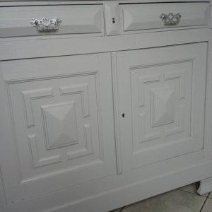 Buffet 2 portes blanc et gris