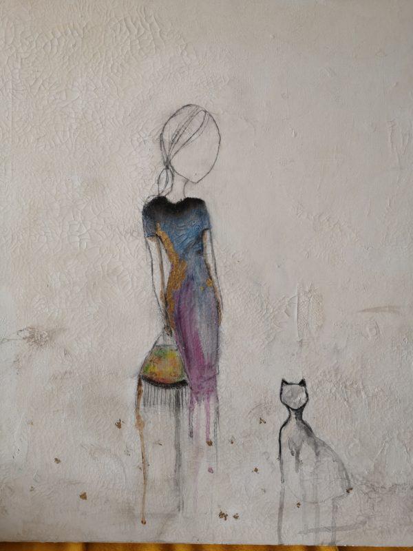Madame et son chat