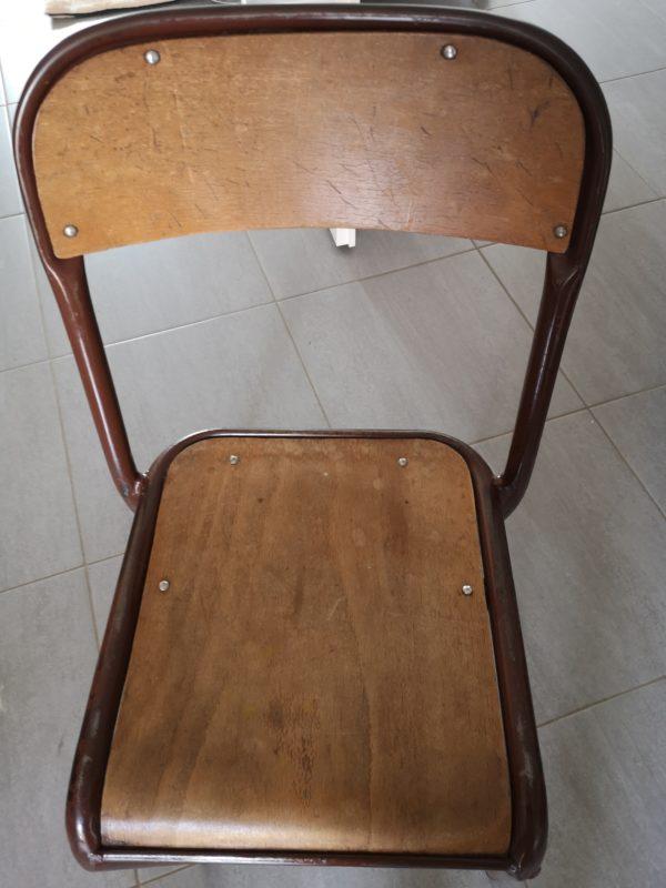 Table écolier et chaise pastel de rose et jaune