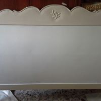 Tête de lit blanc cassé et crème